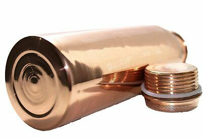 1 Litre Leakproof 100% Pure Copper Water Bottle Flask Health Benefits FreeShip 2