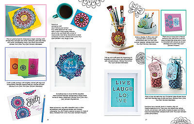 COLOR YOUR OWN STICKERS FRAMES /& BORDERS-Adult Coloring Craft Book-Zentangle