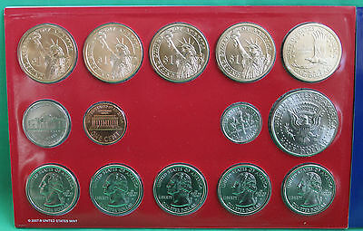 2008 P and D United States Mint ANNUAL Uncirculated Coin Set 28 BU Coins and COA 5