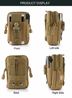 Tactical Molle Pouch Belt Waist Pack Bag Military Waist Fanny Pack Phone Pocket 4