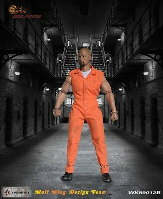 Wolf King 1:6 Inmate Jump Suit & Head Action Figure Accessory Dao 89012B 4