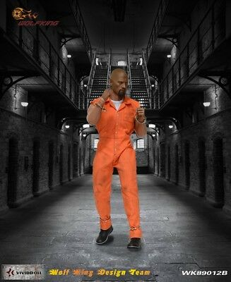 Wolf King 1:6 Inmate Jump Suit & Head Action Figure Accessory Dao 89012B 6