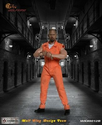 Wolf King 1:6 Inmate Jump Suit & Head Action Figure Accessory Dao 89012B 5