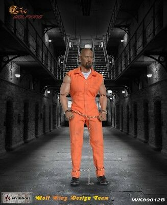 Wolf King 1:6 Inmate Jump Suit & Head Action Figure Accessory Dao 89012B 2