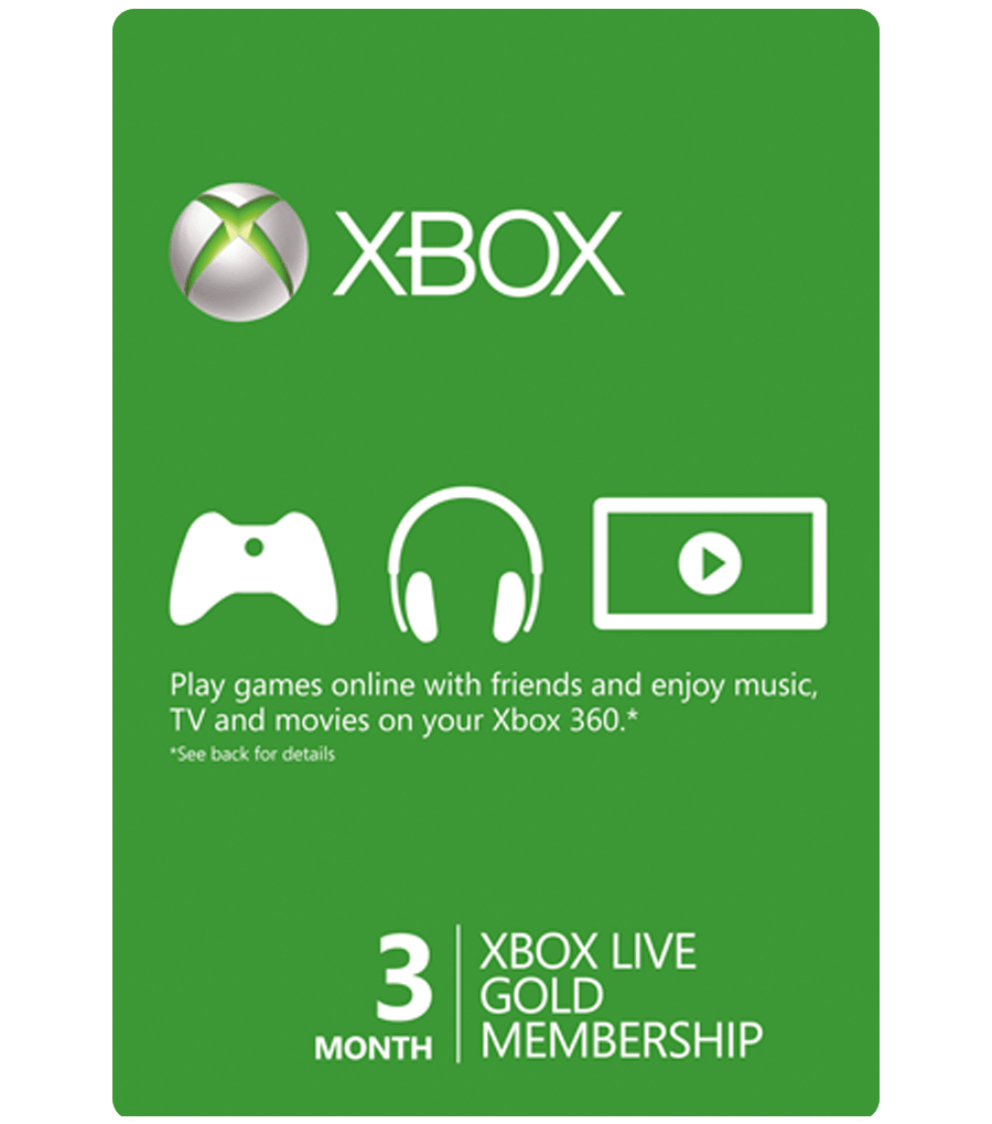 Microsoft Xbox LIVE 3 Month Gold Membership Xbox 360 / XBOX ONE NEW 2