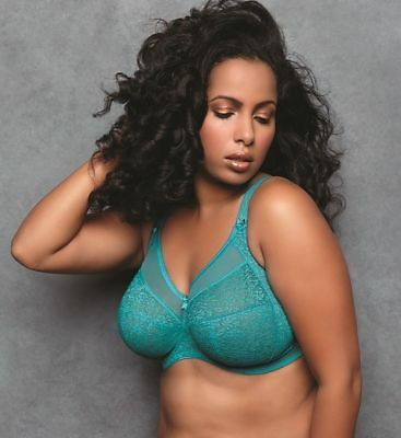 Goddess Adelaide GD6660 Peacock Banded UW Bra NWT Great Support Large Cup Sizes