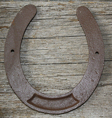 Cast Iron Lucky Horseshoe Rustic Ranch Western  Home Decor 5 1/2 x 6.5 in TEXAS 2