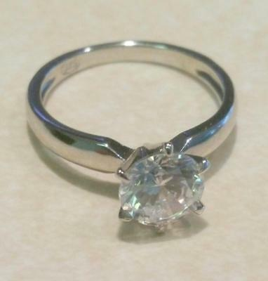 2 Ct Round Diamond Solitaire Engagement Ring White Gold Platinum Finish 6