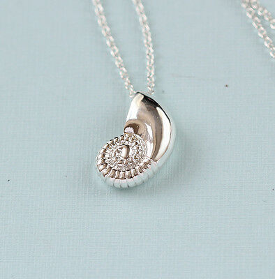 Gold Silver Plated Conch Fossil Ammonite Shell Necklace Pendant Nautical 5