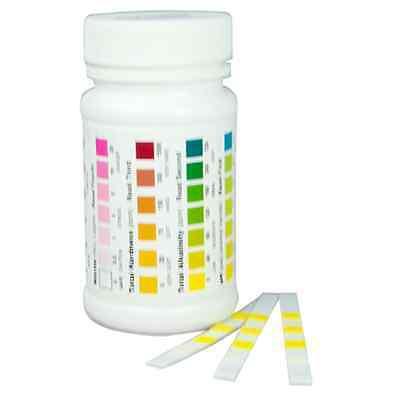 Water Testing Strips Kit Nitrate Nitrite, Total Hardness, Total Alkalinity, pH 2
