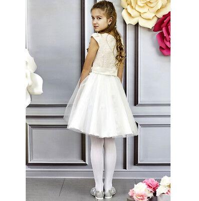 Kleid Festlich Hochzeit Blumenmädchen Kommunion Jugendweihe Mädchen bY7f6gy
