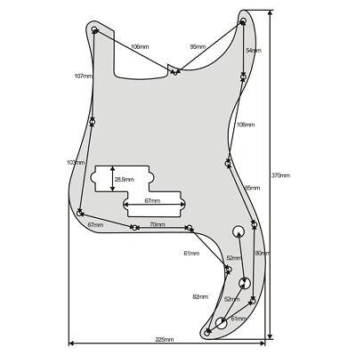 Standard P Bass Pickguard Scratch Plate for FD Precision Bass 13 Holes & Screws 12