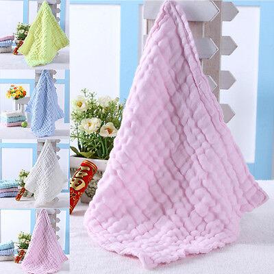 Soft Cotton Baby Infant Newborn Bath Towel Washcloth Feeding Wipe Cloth 3