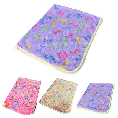 Warm Pet Mat Bone Print Cat Dog Puppy Fleece Soft Blanket Bed Cushion New 7