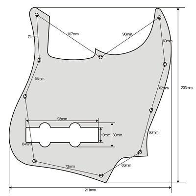 Jazz Bass Style Pickguard Scratch Plate 10 Holes For Standard 4 String J Bass 12