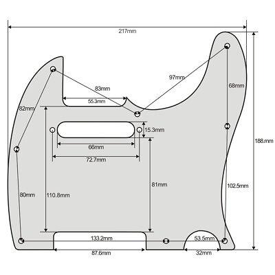 Standard Tele Guitar Pickguard 8 Holes Scratch Plate for TL Telecaster Guitar 12