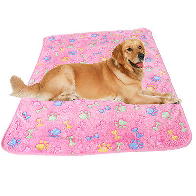 Warm Pet Mat Bone Print Cat Dog Puppy Fleece Soft Blanket Bed Cushion New 3