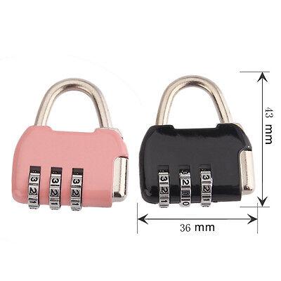 3/4 Dial Digit Combination Door Luggage Suitcase Code Password Padlock Lock 12