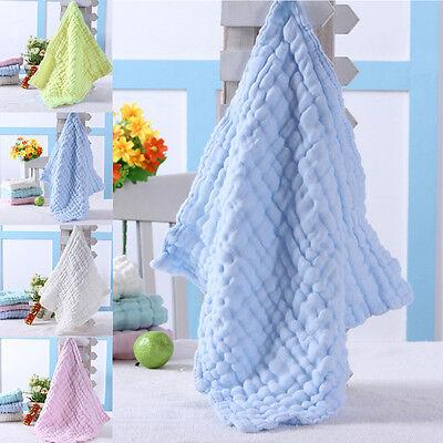 Soft Cotton Baby Infant Newborn Bath Towel Washcloth Feeding Wipe Cloth 4