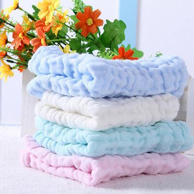 Soft Cotton Baby Infant Newborn Bath Towel Washcloth Feeding Wipe Cloth 2