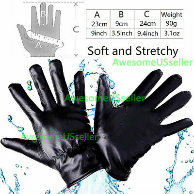 Men Women Winter Gloves Touch Screen Windproof Waterproof Leather Thick Snow USA 5