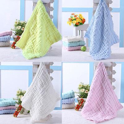 Soft Cotton Baby Infant Newborn Bath Towel Washcloth Feeding Wipe Cloth 7