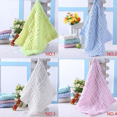 Soft Cotton Baby Infant Newborn Bath Towel Washcloth Feeding Wipe Cloth 8