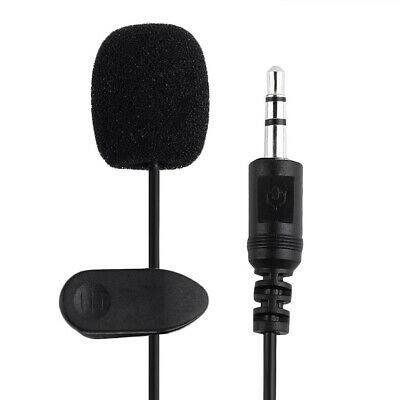 Clip-on Lapel Mini Lavalier Mic Microphone 3.5mm For Mobile Phone PC Recording 3