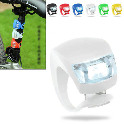 New Silicone Bike Bicycle Cycling Head Front Rear Wheel LED Flash Light Lamp 4