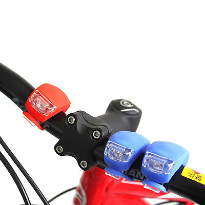 New Silicone Bike Bicycle Cycling Head Front Rear Wheel LED Flash Light Lamp 6