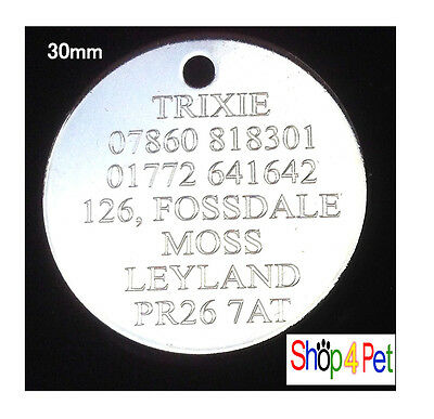 Dog Cat Tags  Double Lined Pet ID Tag Engraving Options on Traditional Machine 2