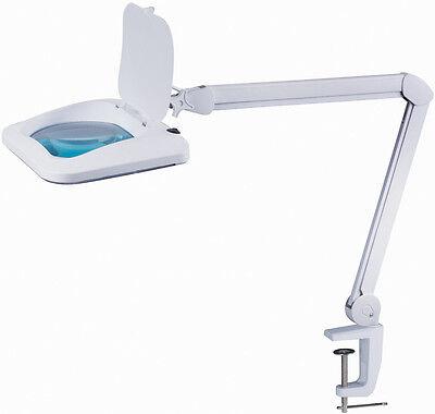 AUBYTEC® ML45 helle LED Gewerbe Lupenlampe 960LUM XXL HQ Linse 19x15,8cm 5J Gara