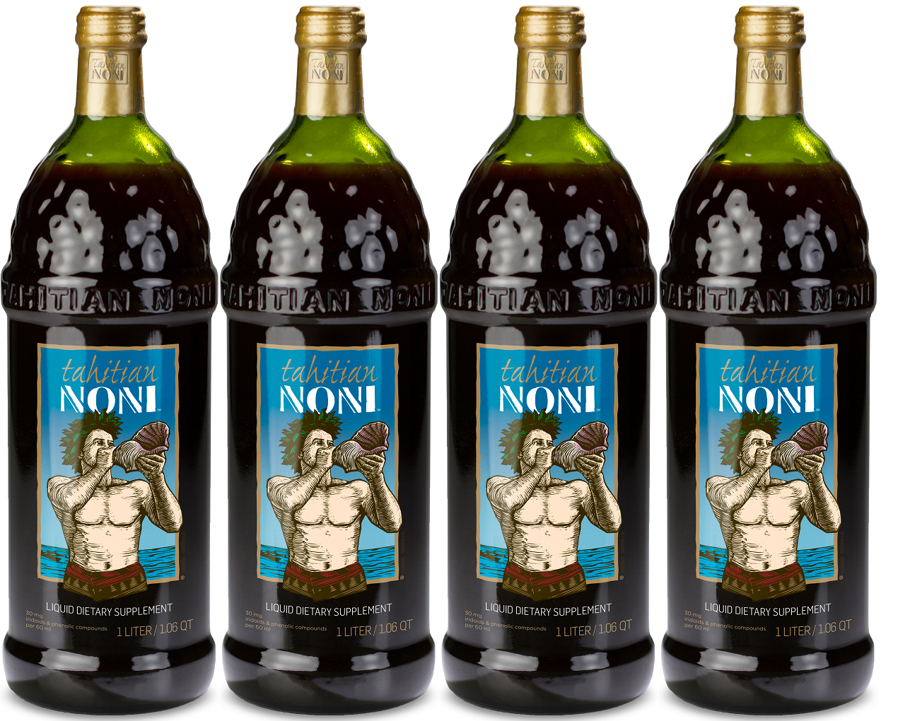 Tahitian Noni Juice by Morinda Inc. (4 bottle case) *NEW LOOK!* 9