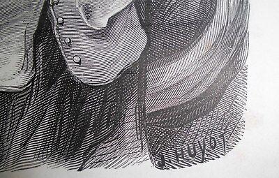 G.Dore1889/2 Blatt Holzschnitte zu LES MEDICINS:Fabeln de la Fontain.Drucksign. 6