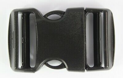 Double Side Release Buckles Black Plastic Clips Rucksacks Replacement All Sizes 5