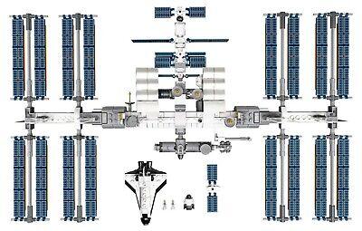 LEGO Ideas Internationale Raumstation 21321 Satelliten NASA Mini-Spaceshuttle 6