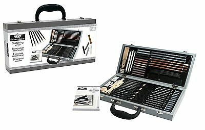Deluxe Sketching Box Set Drawing Pad Pencils Pastels Charcoal Mannequin Sket2000 5