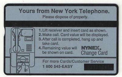 New York Tel NY City Skyline 1st Issue Phone Card  WTC Rare  VF USED 2