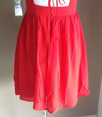 Bulk Lot x 7 NEW Dresses Red Chiffon Lace Up Back Sizes 6 - 12 Styla Label 7