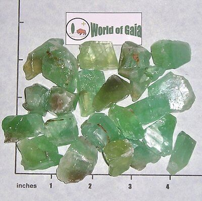 "Green to Lt Aqua CALCITE CHUNKS 1//2-1/"" rough 1//2 lb bulk stones"