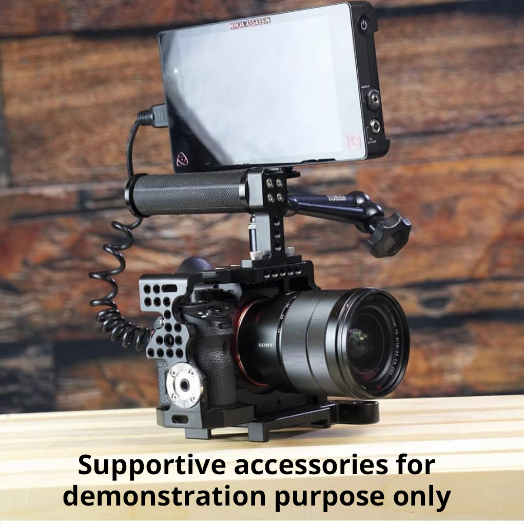 Camgear Cage+Top Handle+Ball Head for Sony Alpha A7II/A7RII/A7SII Camera 3