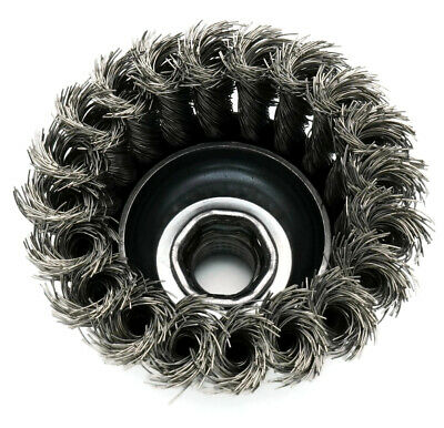 United Abrasives SAIT Stainless Steel Wire Knot Cup Brush for Angle Grinders 4