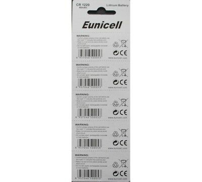 1 of 3FREE Shipping 5 X Eunicell Cr1220 3 Volt Lithium Button coin Cell  Batteries e12d709591f5