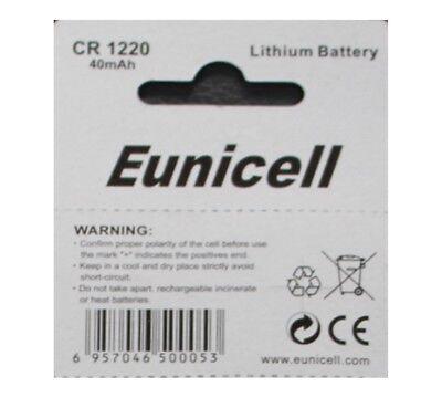 5 X Eunicell Cr1220 3 Volt Lithium Button/coin Cell Batteries