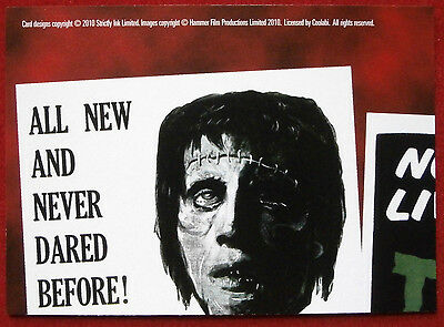 HAMMER HORROR - Series Two - Card #09 - The Curse of Frankenstein - Strictly Ink 2