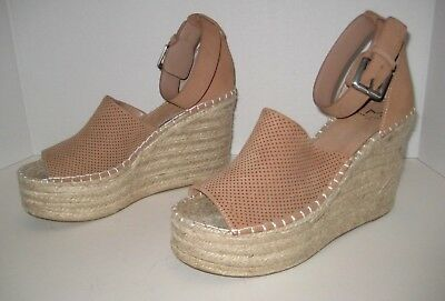 5a34e60f0d1 MARC FISHER LTD Adalyn Espadrille Wedge Sandal Blush Suede Size 8 M