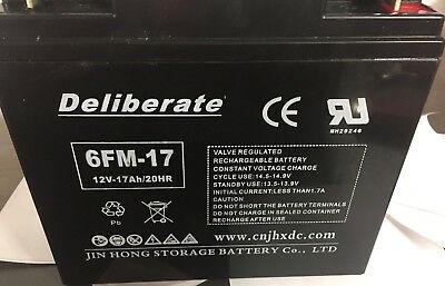 Battery 6FM-17 12V 17AH /20hr (17AH 18AH 19AH 21AH 22AH) Rechargeable 12 volt 2