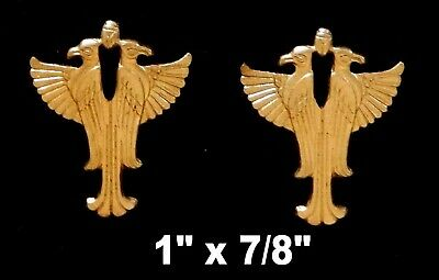 Ancient Egyptian Eagles/Scarab- Brass Stampings/ raw / Two Sizes 3