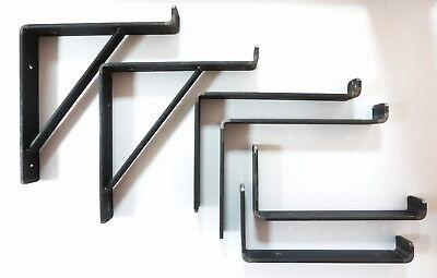 Rustic Shelf Brackets Scaffold Board Heavy Duty 225mm Industrial Steel Metal 2