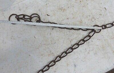 alte Eisenkette 🐱 Kette Gliederkette Bauer rostig 2 Enden geschwungene Glieder 6